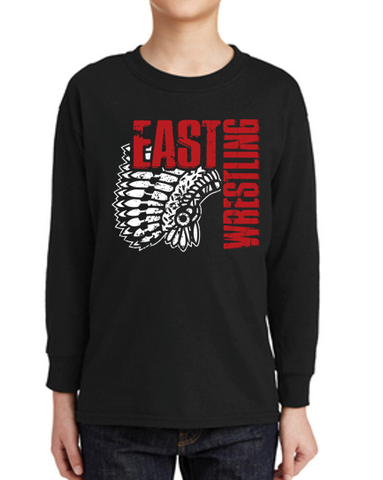 East High Wrestling Club - Youth 100% Cotton Long Sleeve T'Shirt