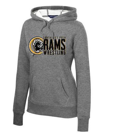 SEP Wrestling - Ladies Pullover Hooded Sweatshirt (Wrestling Design)