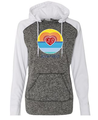 Love Hard - Ladies Cosmic Hooded Sweatshirt (Multiple Colors)