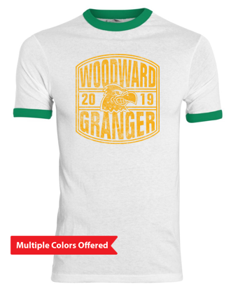 Woodward Granger Fall '19 - Adult Ringer Tshirt (2019 Design)