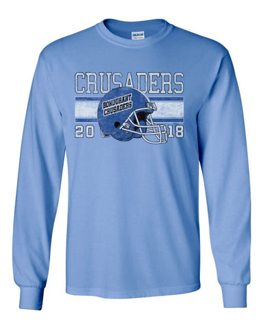 Bondurant Crusader Football - Long Sleeve Tshirt (Available in Multiple Colors)