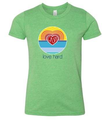 Love Hard - Youth Short Sleeve Tshirt (Multiple Colors)