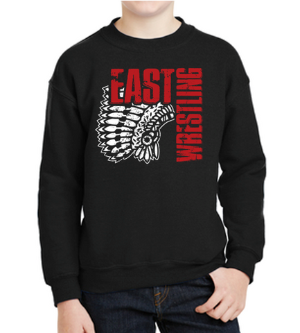 East High Wrestling Club - Youth Crewneck Sweatshirt