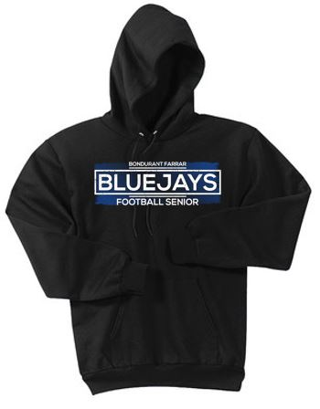 Bondurant Farrar Football Seniors 2020 - Adult Fleece Pullover Hooded Sweatshirt (Seniors)