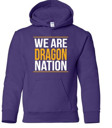 Johnston '18 Fall Order - We are Dragon Nation (Purple Hoodie)