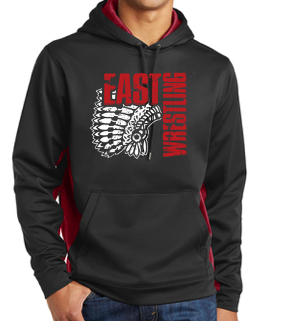 East Junior Wrestling - Youth/Unisex CamoHex Colorblock Hooded Sweatshirt