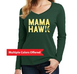 WG Spring '20 - Women's Long Sleeve V-Neck Tshirt (Mama Hawk)
