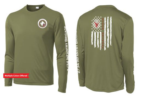 2/34 Infantry Brigade Civilian Store - Unisex PosiCharge Competitor Long Sleeve T-Shirt