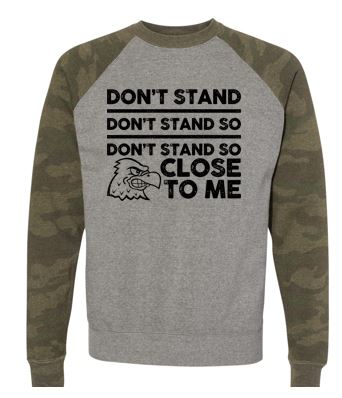 WG Spring '20 - Adult Special Blend Camo Raglan Crewneck Swetshirt (Don't Stand)