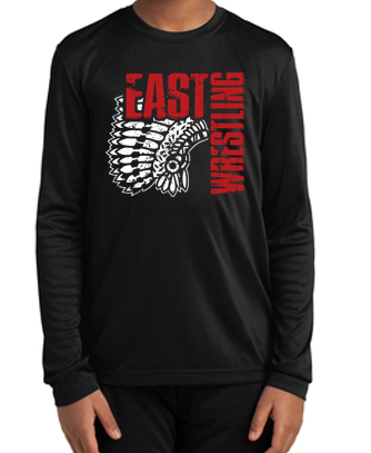 East Junior Wrestling - Youth Competitor Long Sleeve Tshirt