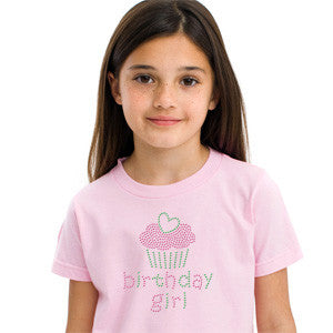 Birthday Girl Kids Rhinestone T-Shirt Broken Arrow