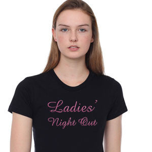 Ladies Night Out Rhinestone Tee Broken Arrow Apparel