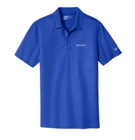 Athene - Mens Nike Dri-fit Embossed Tri-Blade Polo