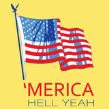 'Merica Hell Yes T-Shirt Broken Arrow Screen Printing
