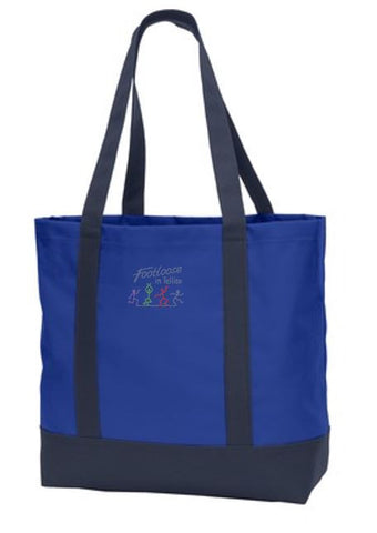 Footloose in Tellico Polyester Canvas Tote