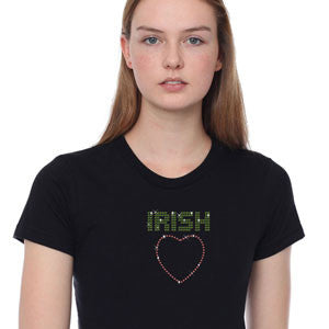 Rhinestone Irish Love T-Shirt Broken Arrow St. Patricks Day