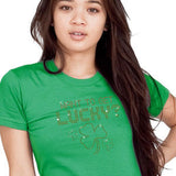 Want to Get Lucky Rhinestone T-Shirt St Patricks Day