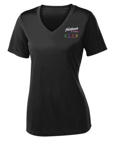 Footloose in Tellico Ladies V-Neck PosiCharge Competitor Tee