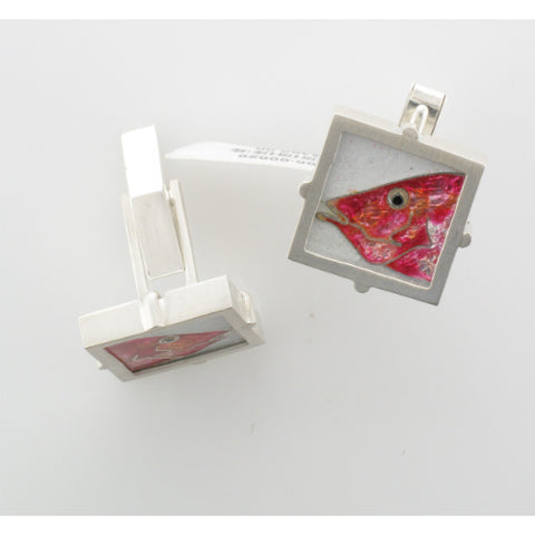 Red Snapper Cufflinks by James Carter Studio