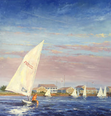 CYC - a sailboat painting by Wilmington, NC artist Chip Heminway