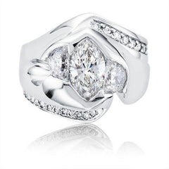 custom marquis diamond platinum ring