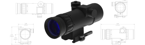 KAC Knights Armament Co. UNS-SR Clip-on Weapon Sight (WS)