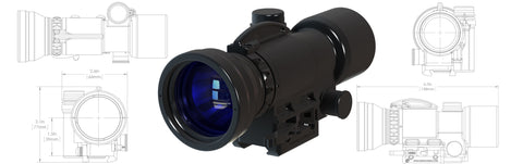 KAC Knights Armament Co. UNS-A2 clip-on Weapon Sight (WS)
