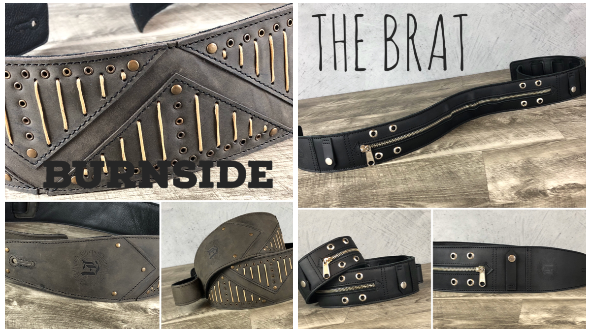 "Anthology Gear Releases Two New Guitar Straps ""Burnside"" and ""The Brat"" This 2019 Holiday Season"
