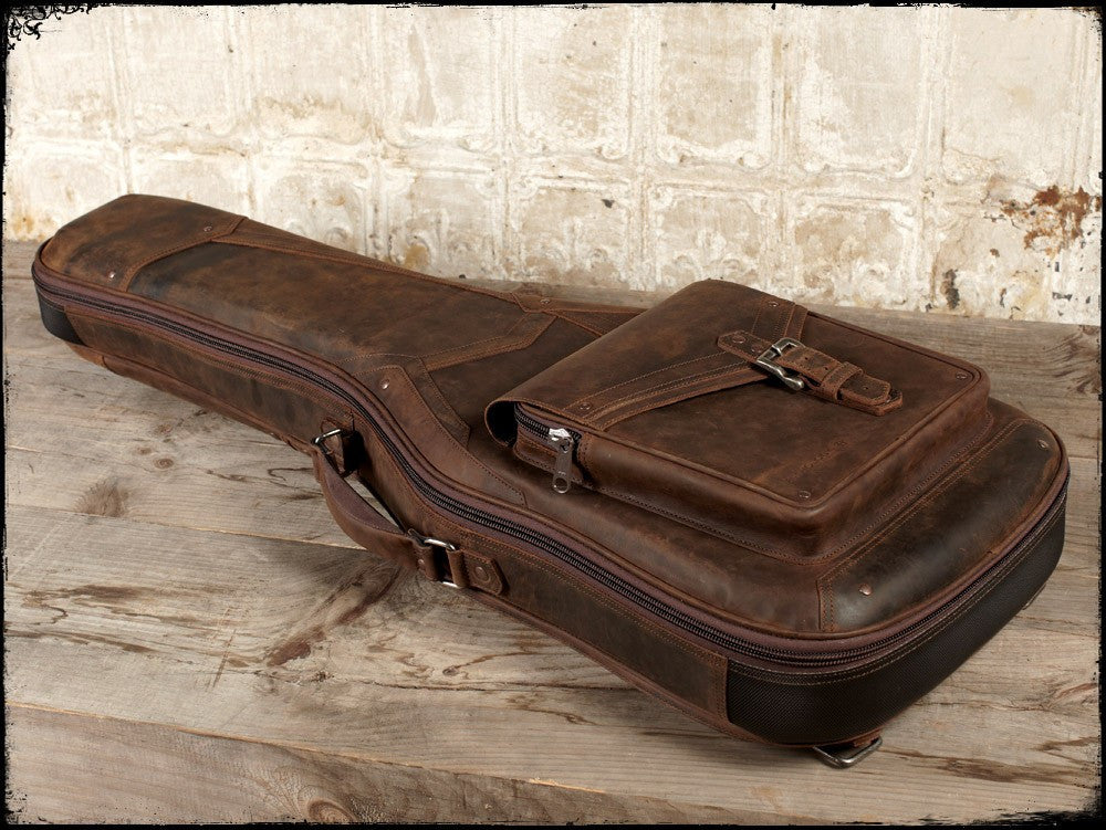 rugged leather electric guitar case the revelator by anthology gear anthology gear wear. Black Bedroom Furniture Sets. Home Design Ideas
