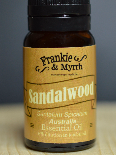 Sandalwood Essential Oil - 10mL - 6% dilution in Jojoba Oil