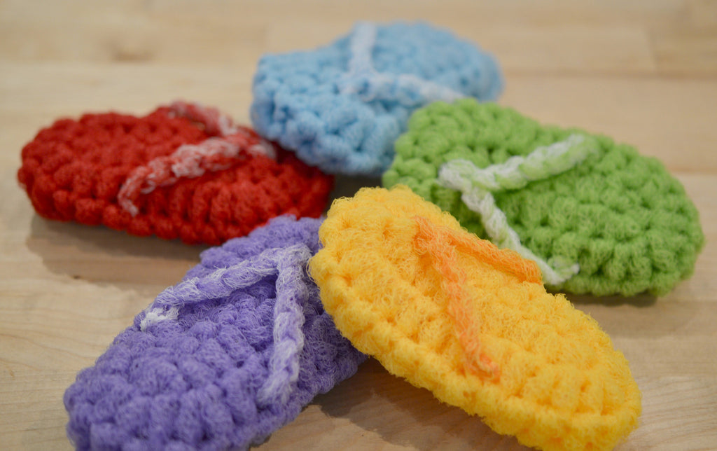 Go-Scrub-Yourself Loofah/Scrubbie ---Go scrub yourself in the cutest way imaginable.