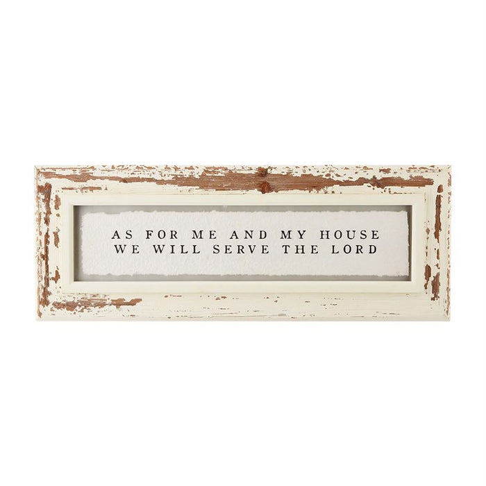 As for me and my house... Shabby Chic Plaque