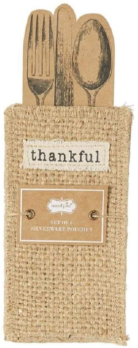 Thankful Silverware Pouch