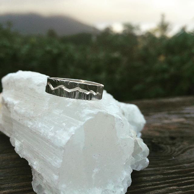 Mountain Sky Split Ring