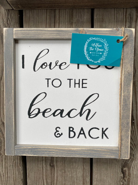 Beach and Back Sign - Consign