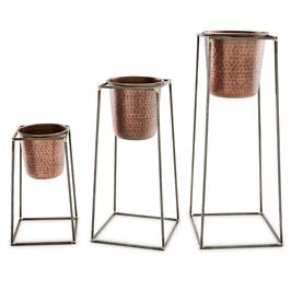 Nested Copper Pots and Stands