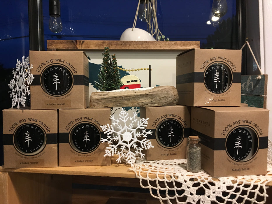 Rainwater Glass Poured Candles from Ucluelet - Soy based