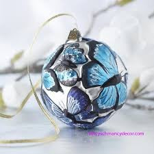 Butterfly ball ornament