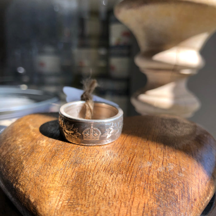 Coin and silverware Rings