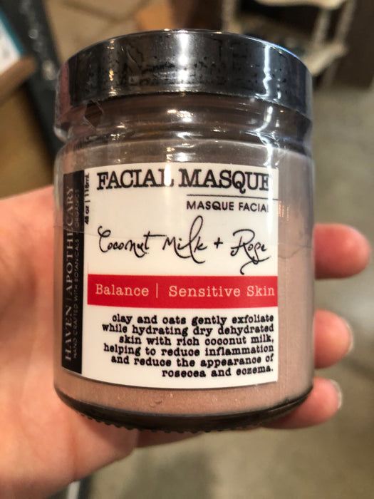 Coconut Milk and Rose Facial Mask