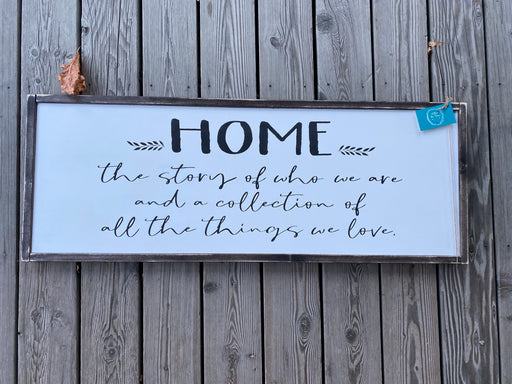Home is the story- large consignment