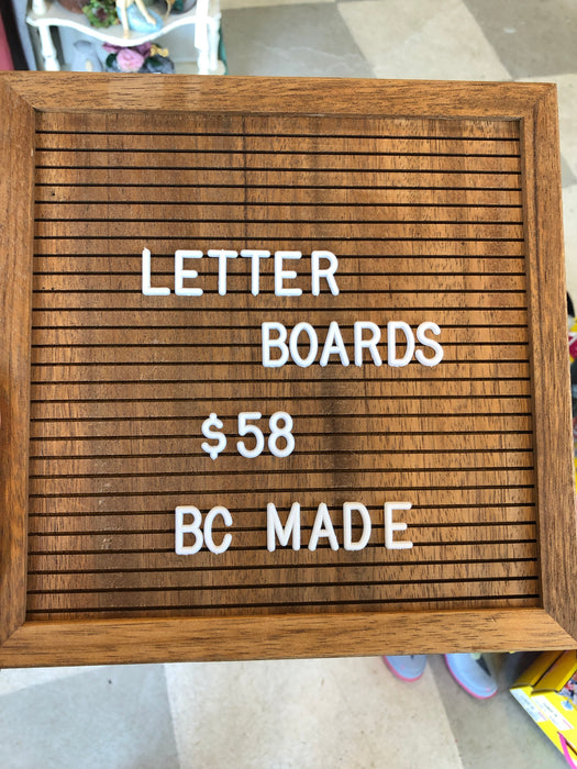 Walnut Letter Boards