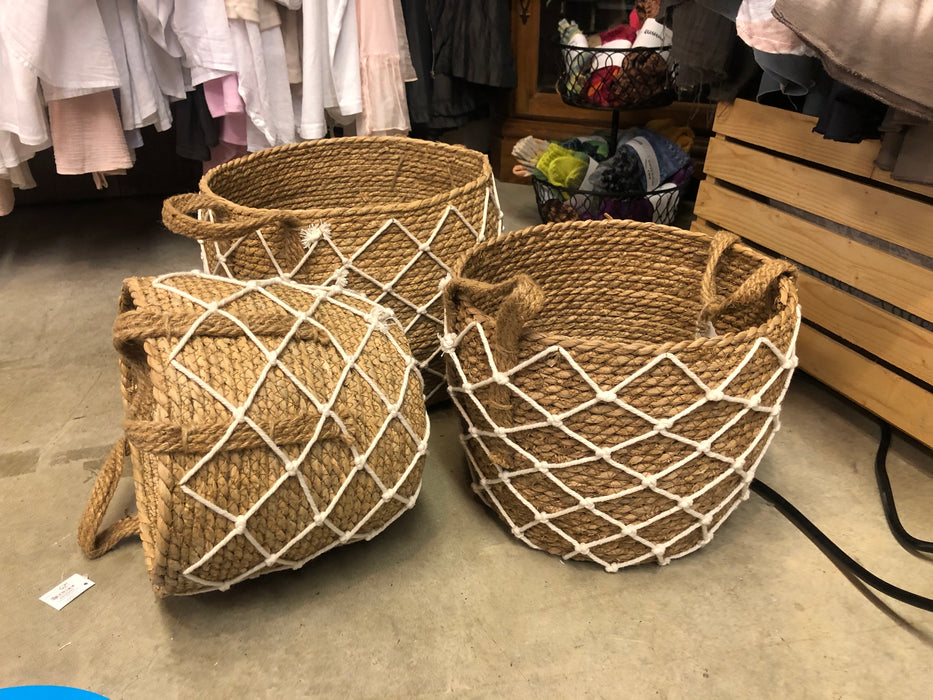 Baskets with Rope Set