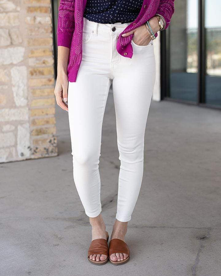 White jeans non distressed ankle jegging