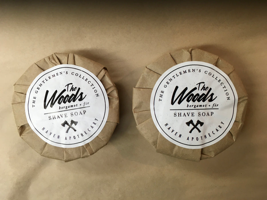 The Woods Shave soap