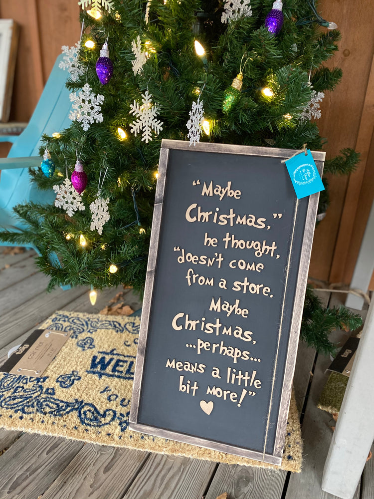 Christmas doesn't come from a store consignment