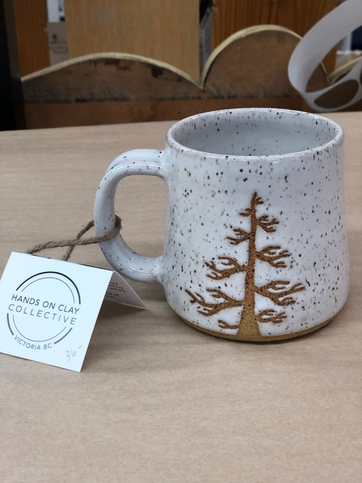Hands On Clay Collective pottery Tree Mugs