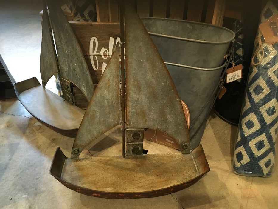 Sailboat - Metal Shelf 8396