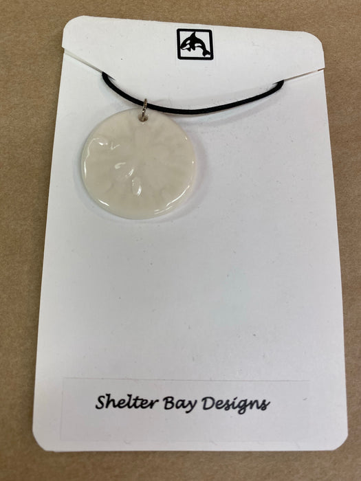 Sand dollar  Pottery Necklaces
