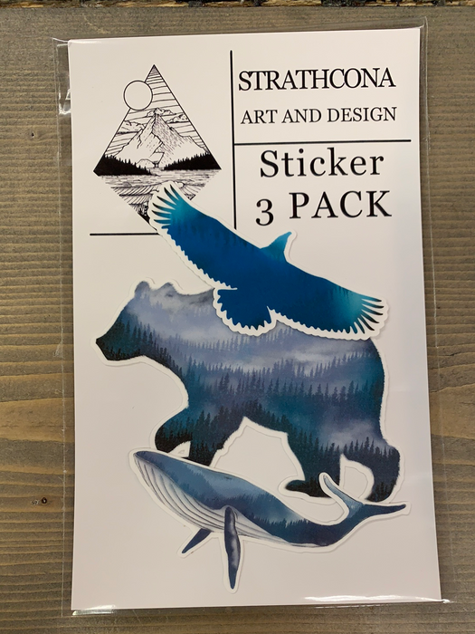 Strathcona Art Sticker pack - set of 3